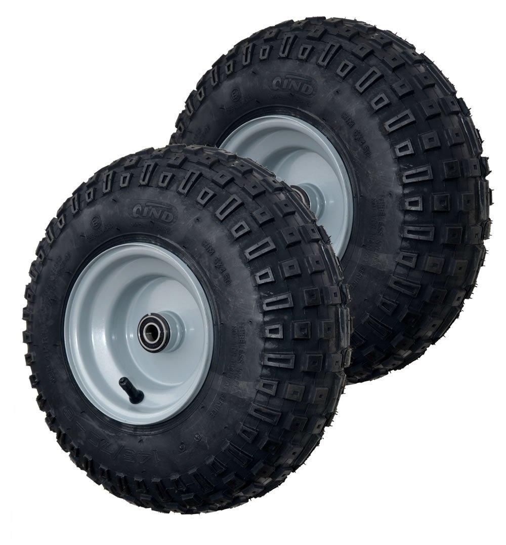 Knobby Tire and Wheel Assembly,  Go-kart / ATV, 145/70-6 ...