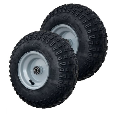 Knobby Tire and Wheel Assembly,  Go-kart / ATV, 145/70-6 (set of 2) (Go Kart Dirt Tires)