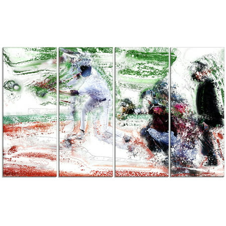 Design Art Baseball Bases Loaded, 4 Panels, 48
