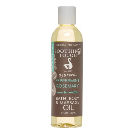 Soothing Touch Bath Body & Massage Oil, Peppermint Rosemary, 8 Oz
