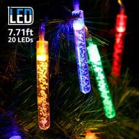 TORCHSTAR 7.22ft 20 LED LED Bubble Stick String Light for Living Room, Batteries Powered