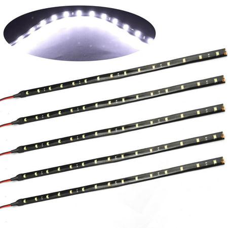 EEEKit LED Strip Underbody Light for Car, 6-Pack High Power 30CM 2W DC12V Waterproof Flexible Light Bar for Car Motorcycle Boat Marine Trailer (Boat Trailer Led Light Kit)