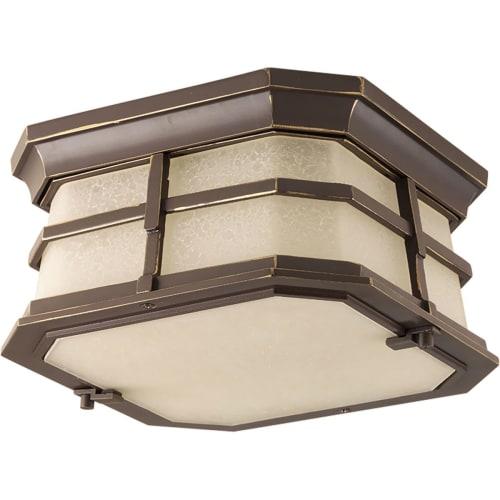 flush mount vent hood kitchen exhaust progress lighting p6017led derby led outdoor flush mount ceiling fixture with mottled amber glass