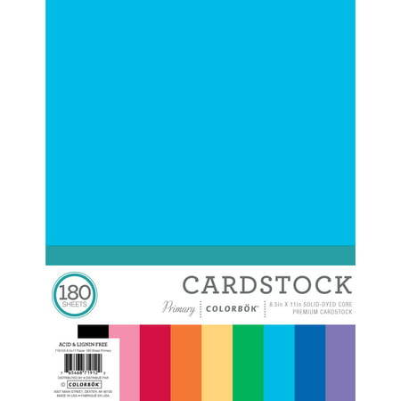 """Colorbok 8.5"""" x 11"""" Primary Paper Pad, 180 Count"""