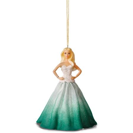 Hallmark Keepsake Holiday Barbie Ornaments   Green Dress