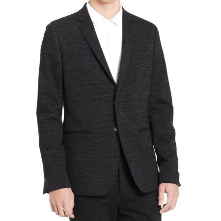 Calvin Klein Black Blazer - Calvin Klein Black Mens Large Space Dye Two Button Blazer $228