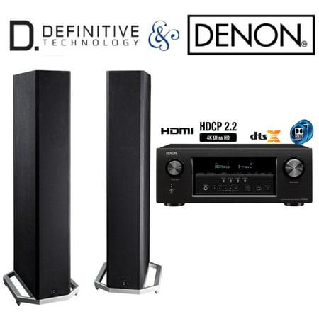 Denon AVR-S920W Receiver Bundle with Definitive Technology BP9020  Floorstanding Speakers (Pair)