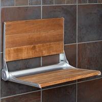 Folding Shower Bench Modern Finished 100% Teak Wood
