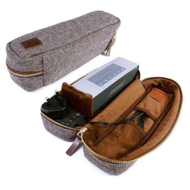 Tuff Luv J6-20 Herringbone Tweed NFC Travel Case for Bose Sound Link Mini & Mini 2, Brown by Tuff Luv
