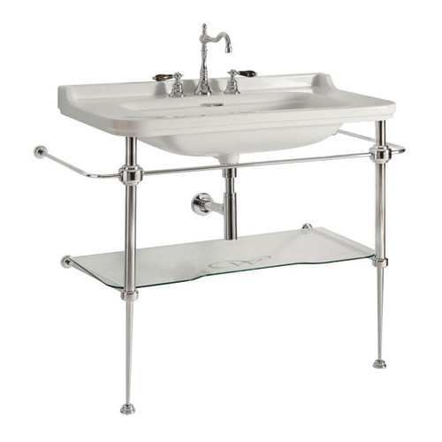 WS Bath Waldorf Ceramic 31.5'' Console Sink with Overflow