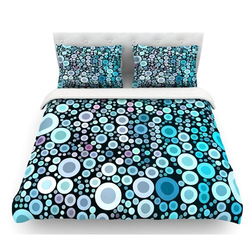 East Urban Home Aquatic by Sylvia Cook Circles Featherweight Duvet Cover