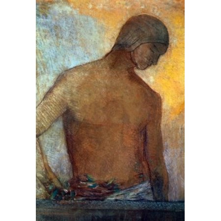 Study of a Torso by Odilon Redon pastel drawing (1840-1916) France Lyon Musee des Beaux-Arts Canvas Art - Odilon Redon (24 x 36)