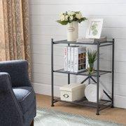 K&B Furniture Metal Folding Shelf Rack/Bookcase