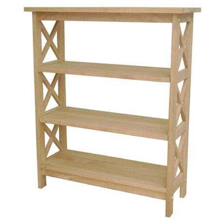 International Concepts Unfinished Wood 36 39 39 Etagere Bookcase