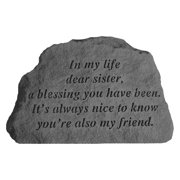 In My Life Dear Sister Garden Accent Stone