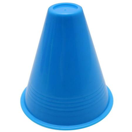 New amusing 10pcs inline skating Cup Speed Training Equipment Slalom Skates Cones Marker BU (Slalom Cones)