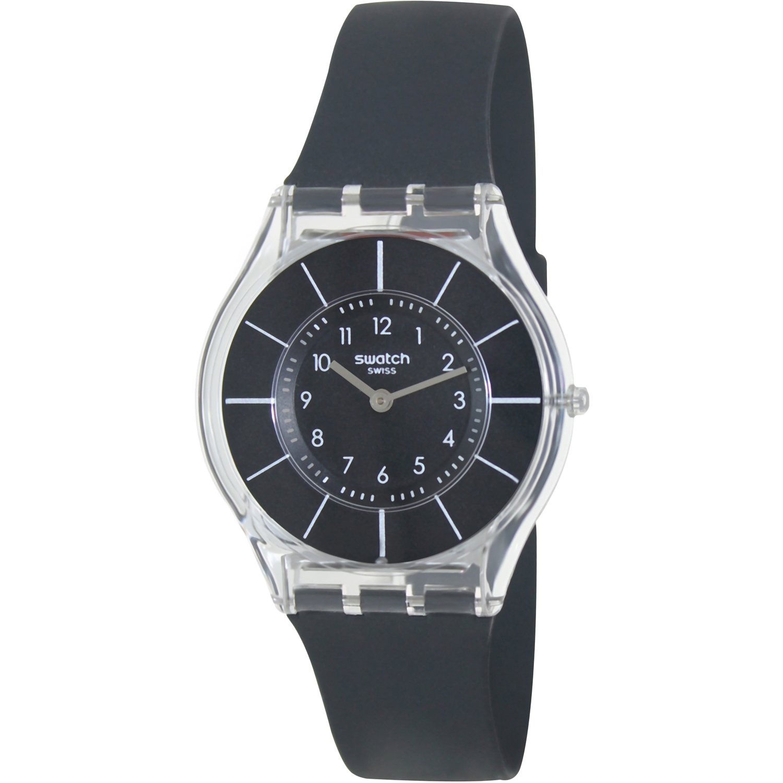 Swatch Women's Skin SFK361 Black Silicone Swiss Quartz Watch
