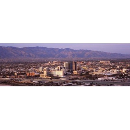 Aerial view of a city Tucson Pima County Arizona USA 2010 Poster Print - Party City Towson