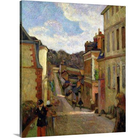 Great BIG Canvas | Paul Gauguin Premium Thick-Wrap Canvas entitled A Suburban Street, 1884 (1884 Canvas)