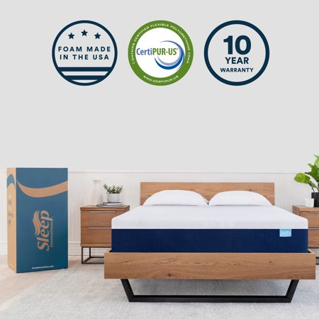 Sleep Innovations Shiloh 12-inch Memory Foam Mattress, Bed in a Box, Soft Cover, 10-Year Warranty - Twin Size ()