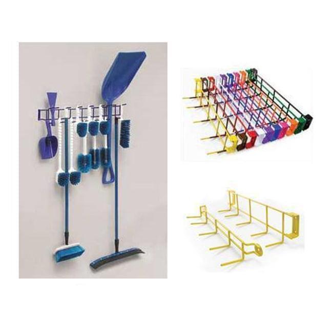 Horizon Manufacturing 4053 36 inch 16-Hook Utility Rack - Green