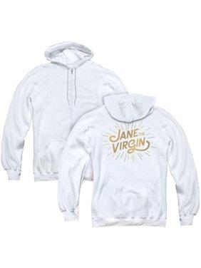 Jane the Virgin & Golden Logo Back Print - Adult Zipper Hoodie, White - 2X