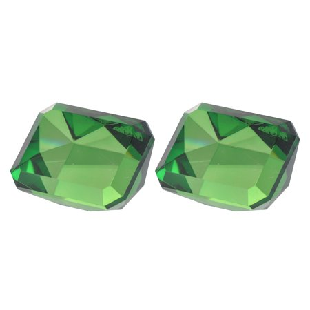 Set of 2 Green Contemporary Rectangular Faux Accent 3.75