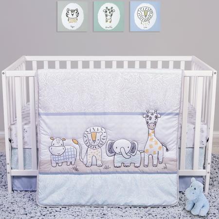 Sammy and Lou Safari Yearbook 4 Piece Crib Bedding Set (Baby Crib Bedding Sets 13 Pcs)