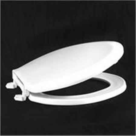 Elongated Economy Plastic Seat - Centoco 1600-416 Biscuit Elongated Economy Plastic Toilet Seat