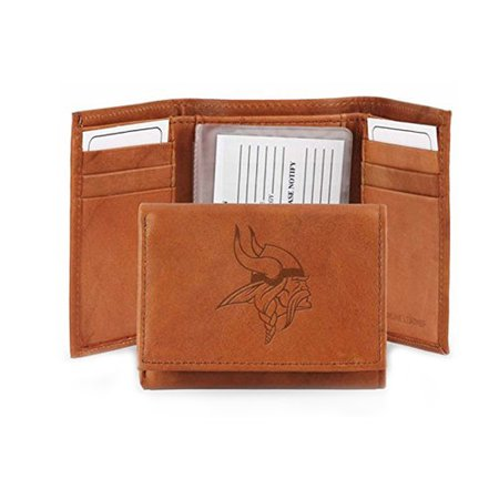 Nfl Minnesota Vikings Leather Trifold Wallet