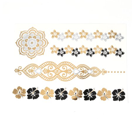 Flower Pattern Removable Water Resistant Body Make Up Tattoo Sticker Colorful