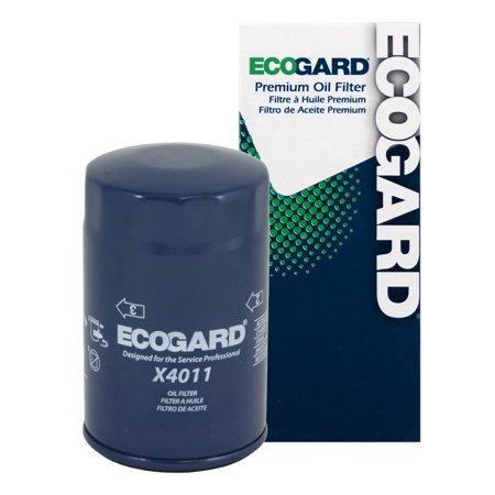 ECOGARD X4011 Spin-On Engine Oil Filter for Conventional Oil - Premium Replacement Fits Chevrolet K1500, Blazer, S10, C1500, Tahoe, Astro, K2500, K1500 Suburban, Silverado 1500, S10 Blazer, Corvette