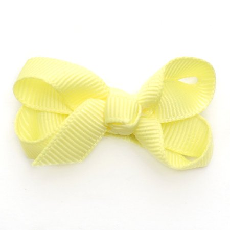 Reflectionz Baby Girls Yellow Grosgrain Ribbon Hair Bow Clippie
