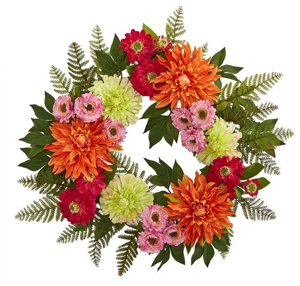 20 in. Dahlia Wreath