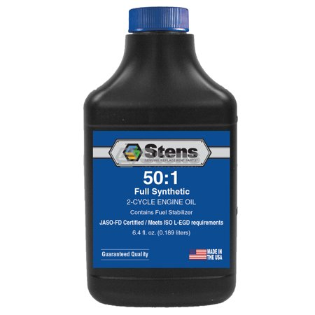 Genuine Stens Full Synthetic 50:1 2-Cycle Engine Oil Mix / 6.4 oz. bottle/24 per case Part# 770-684