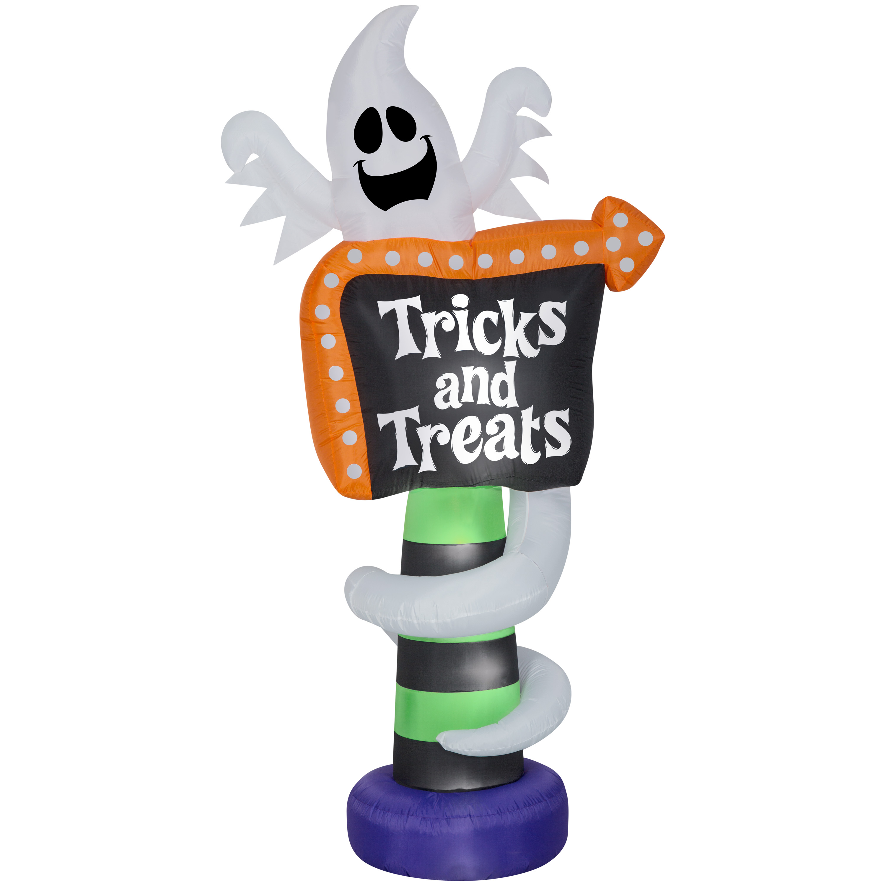 Halloween Airblown Inflatable Ghost Trick-or-Treat Sign 8FT Tall Only $24 (Was $59)