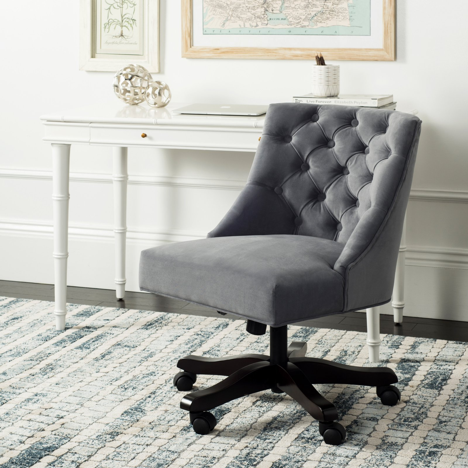 Safavieh Soho Transitional Tufted Swivel Desk Chair