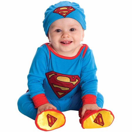 Superman Onesie Infant Halloween Costume - Full Body Suit Halloween