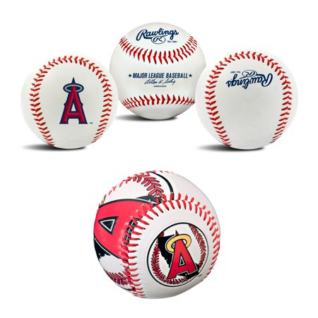 Los Angeles Angels MLB Retro and Team Logo Authentic Baseballs Bundle 2 Pack