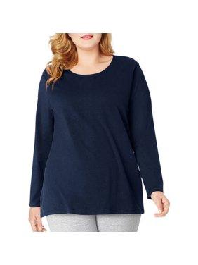 a40c2c34b1e Product Image Plus-Size Women s Long-Sleeve Scoopneck Tee