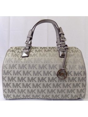 322822c9ee8f Product Image NEW MICHAEL KORS GRAYSON LARGE SATCHEL LIGHT GREY SHOULDER  CROSSBODY BAG HANDBAG