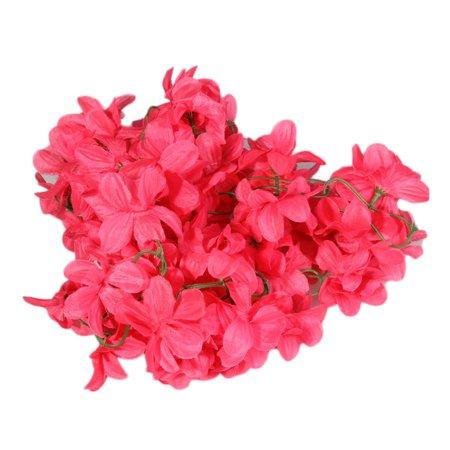 KABOER 2 Piece Artificial Flower Vine Azalea Bunch Garland Vine for Wedding Party Home Decoration