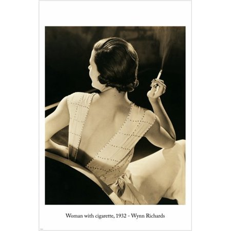 Halloween By Curtis Richards (Wynn Richards Woman With Cigarette Photo Poster 24X36 Vintage)