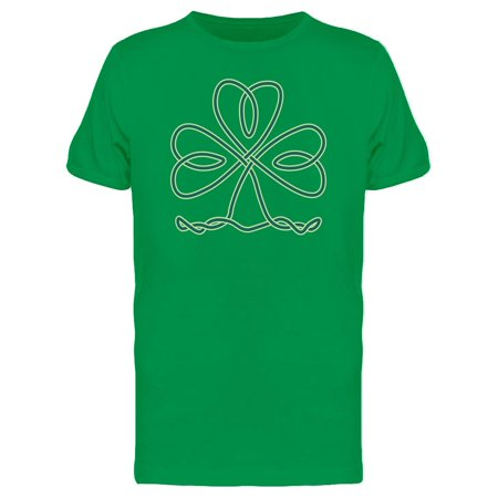 Clover In Celtic Knot Tee Men's -Image by Shutterstock White Gold Mens Trinity Knots