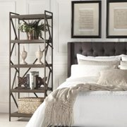 iNSPIRE Q Lincoln Metal Distressed Brown Bookslf Media Tower by  Classic