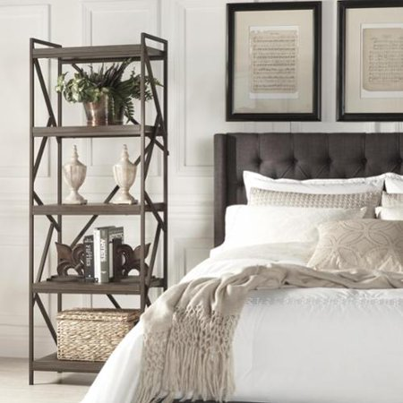 Tribecca Home  Lincoln Metal Distressed Brown Bookslf Media Tower