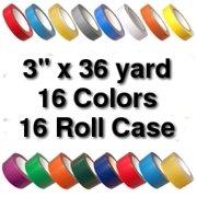Vinyl Marking Tape 3 inch x 36 yard (16 Roll Case) - Medium Brown