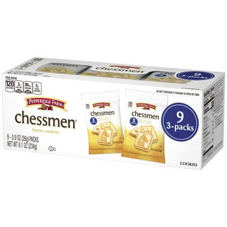 Pepperidge Farm Chessmen Butter Cookies, 8.1 oz. Multi-pack Tray, 9-count Snack (Snacks D'halloween)