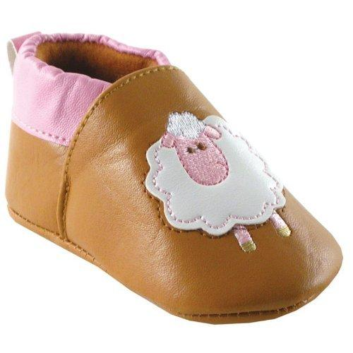 Slip-on Girl Booties, Sheep, 0-6 months