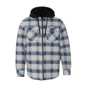 Burnside Outerwear Quilted Flannel Full-Zip Hooded Jacket 8620